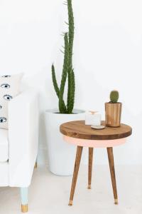 DIY Mid Century Side Table | Sugar & Cloth