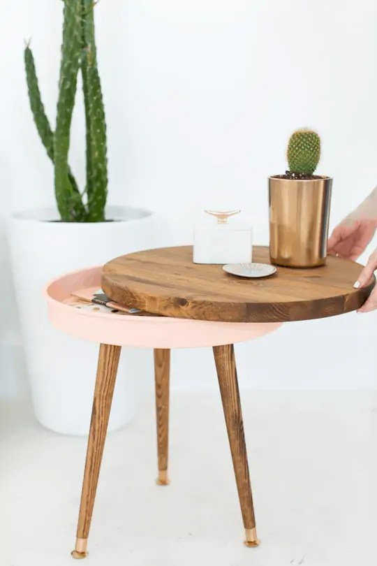 DIY mid century end table | sugar & cloth