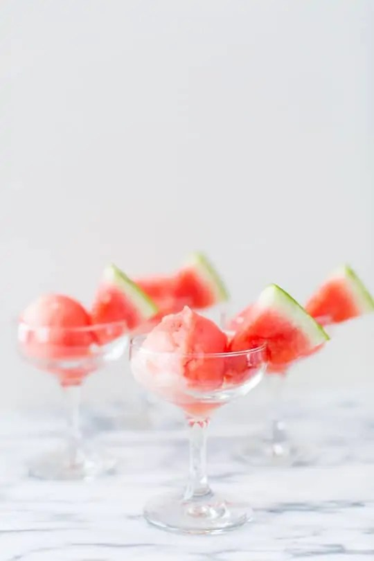 Sugar Free Spiked Watermelon Sorbet Recipe | sugar & cloth
