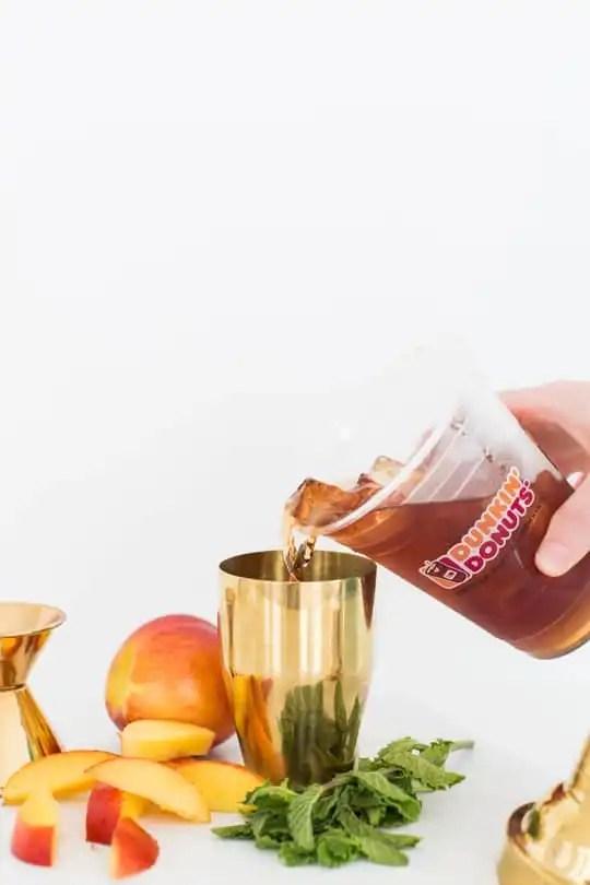 how to make peach tea vodka