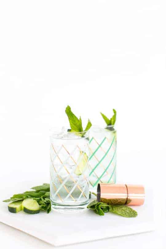cucumber mint cooler recipe - sugar & cloth
