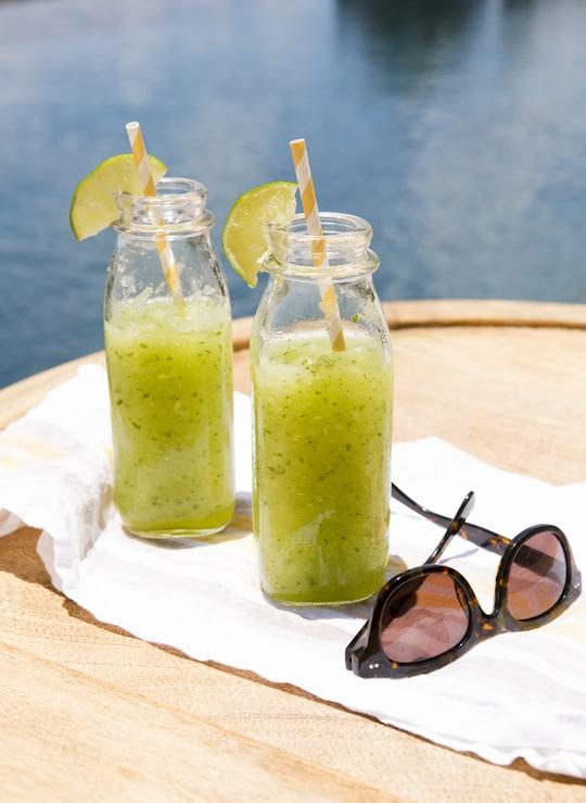 Sips For Summer Honeydew Ginger Crush Recipe - Sugar & Cloth #sipsforsummer