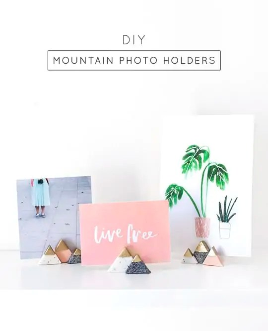 DIY mini mountain photo or card holders - sugar and cloth