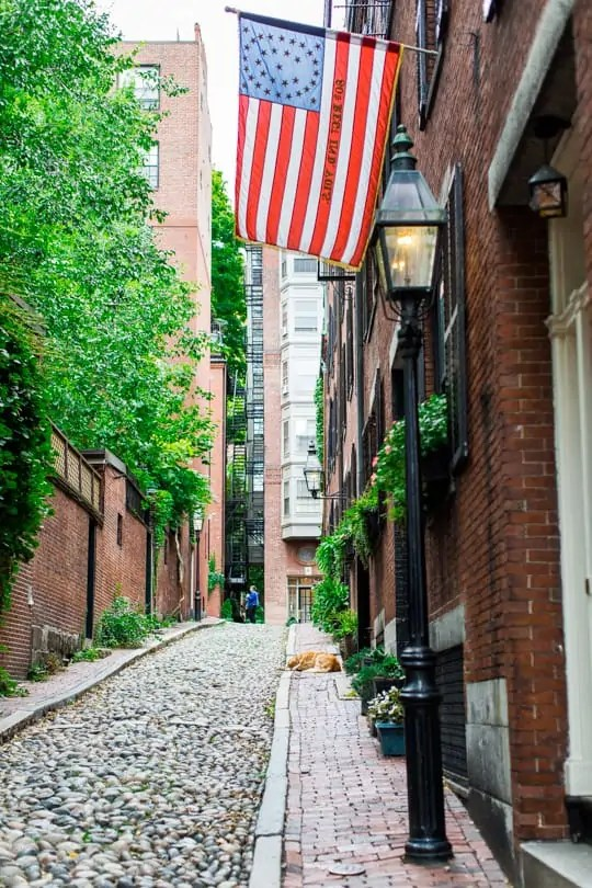 Walls and photo-ops in Boston - sugar and cloth - acorn street - travel