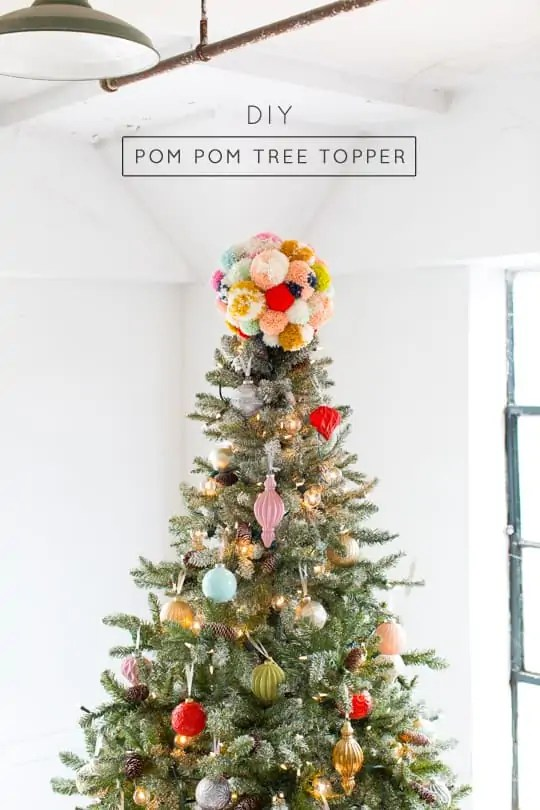 Pom Pom Tree Topper - Sugar & Cloth