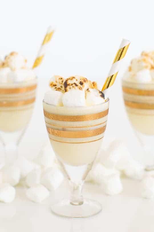 Toasted Marshmallow Ice Cream Shot Recipe - sugar & cloth - ashley rose