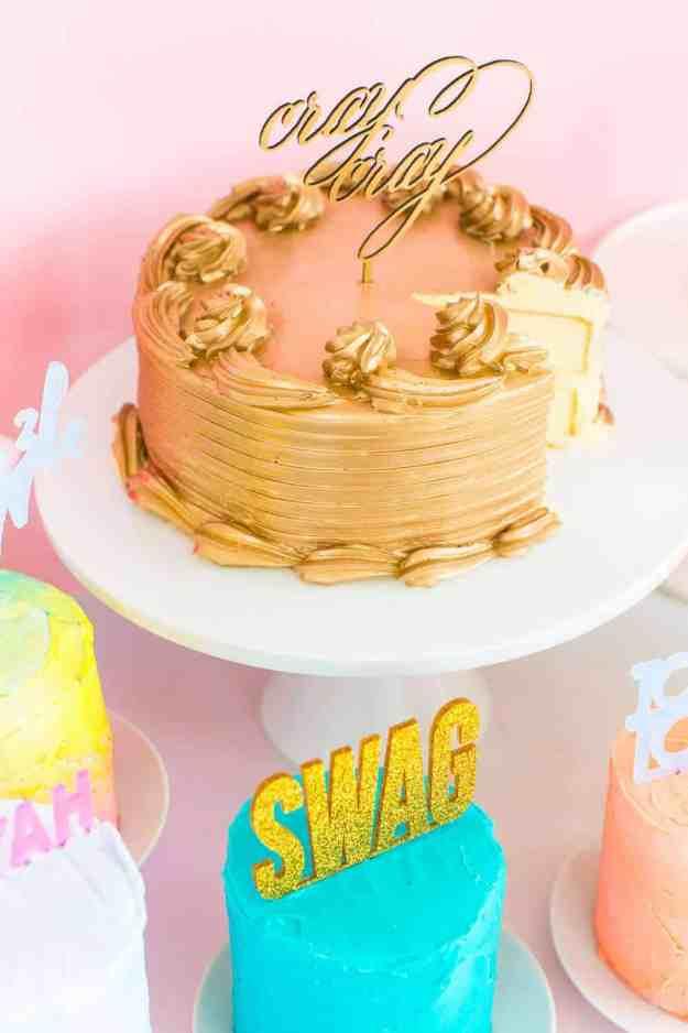 DIY Slang Cakes - sugar and cloth