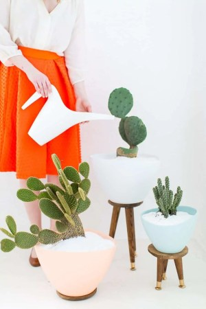 DIY mid century planters - sugar and cloth