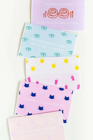DIY funny printable valentines cards - sugar and cloth