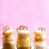 Boozy Salted Caramel Pretzel Root Beer Floats - Sugar & Cloth - Recipe