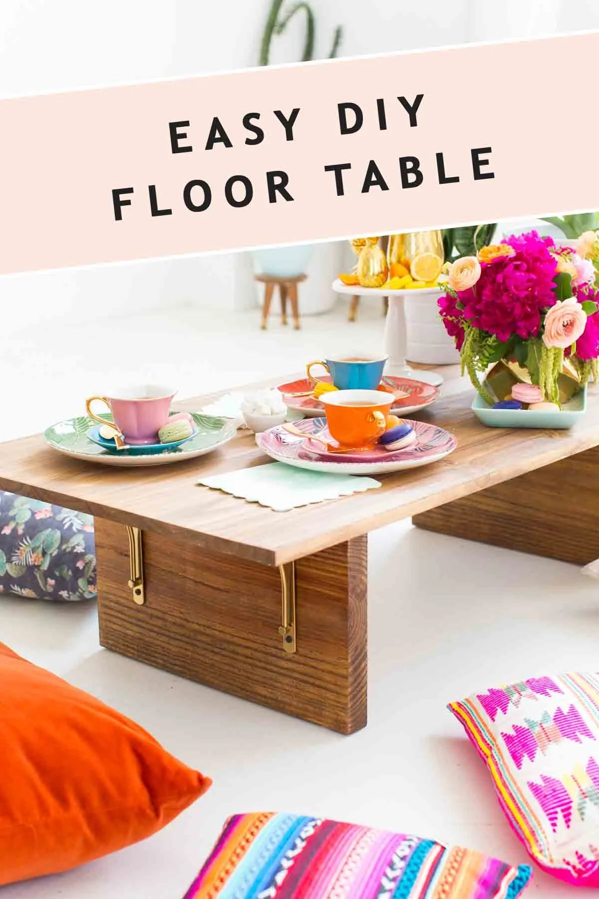 Floor Seating Idea Diy Floor Table Decor Diy By Sugar - Diy Table Using Flooring