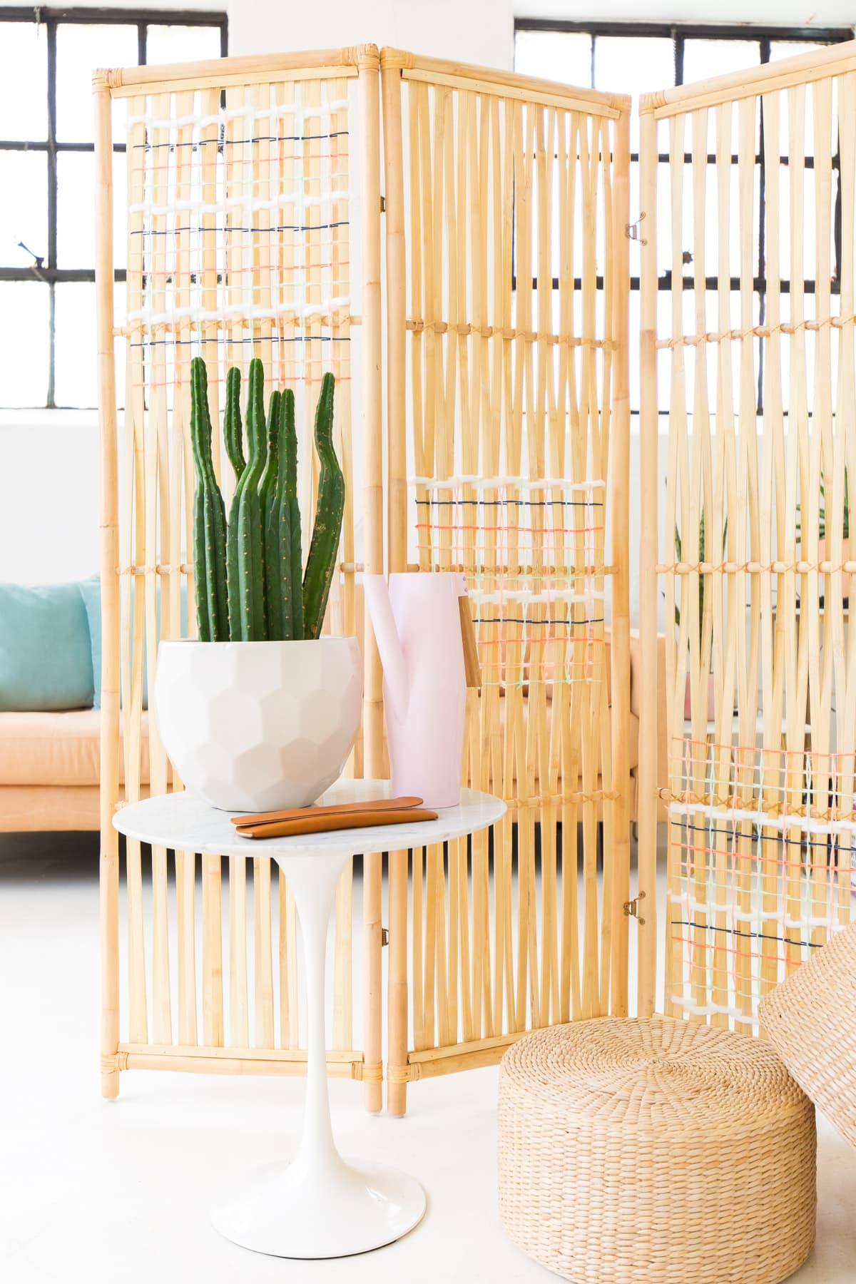 How To Make Room Dividers Cheap Diy Ikea Hack Woven Room Divider Sugar And Cloth Diy