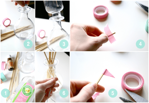 how to make a reed oil diffuser and washi tape