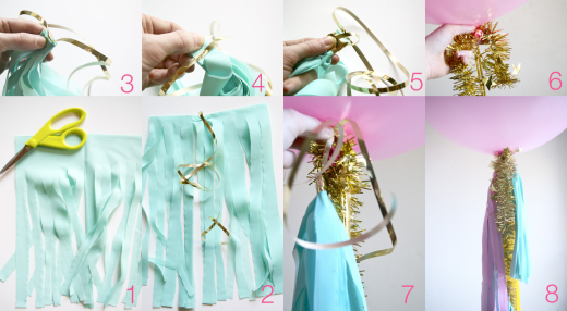 how to make tassels and geronimo balloons