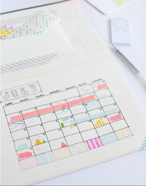 color code your calendar with fingernail polish