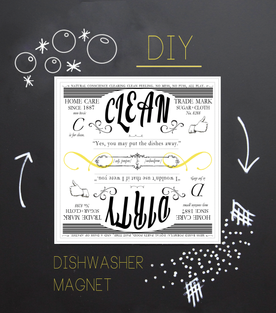 DIY clean dirty dishwasher magnet