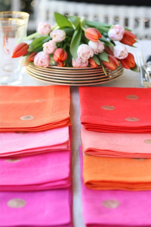 how to make polka dotted linens
