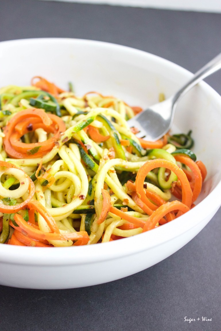 Spicy Veggie Noodles Main | Sugar and Wine