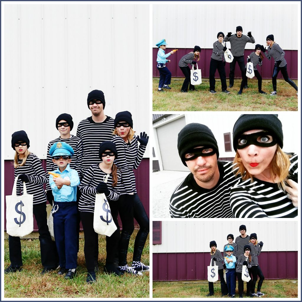 Diy Bank Robber Shirt Bandits Family Costume Idea Sugar Bee Crafts