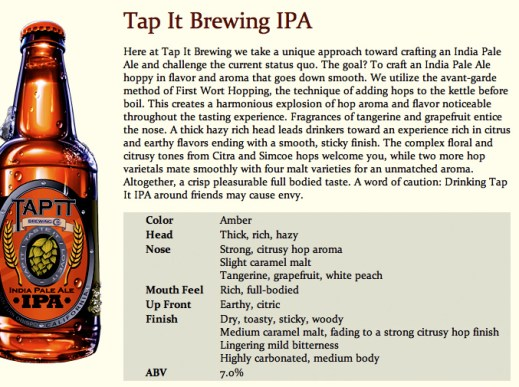 tap it brewing ipa slo