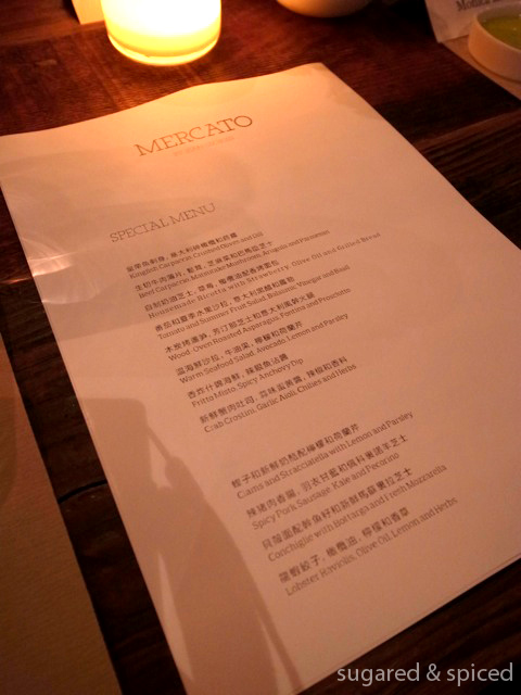 Italian Pizzas Menu [shanghai] Mercato By Jean Georges | Sugared & Spiced