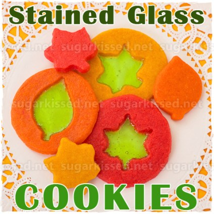 Stained Glass Cookies - sugarkissed.net