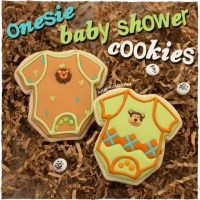 Onesie Baby Shower Cookies | Party Favors You Can Make!