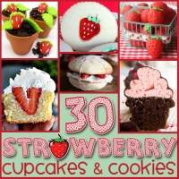 30 Berry-licious Strawberry Cupcakes and Cookies