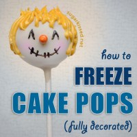 Make Cake Pops Ahead of Time - Freeze When Fully Decorated!