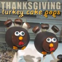 Turkey Cake Pops for Thanksgiving
