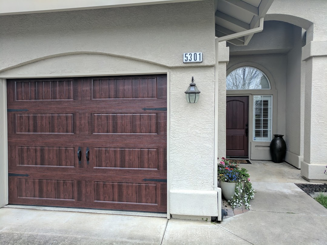 Garage And Front Doors That Match Carriage Style Garage Door And Front Entry Door Installation