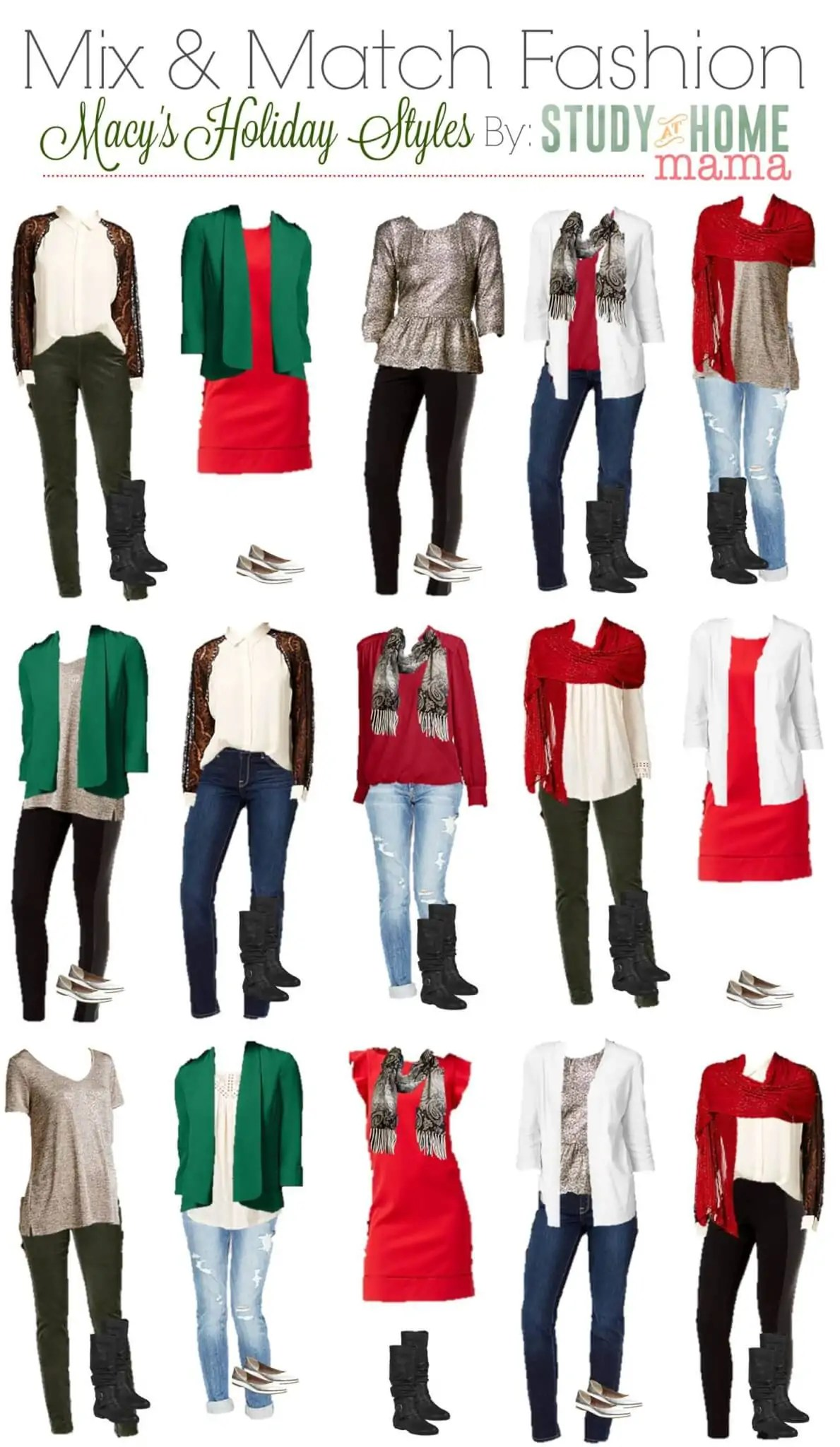 Mix And Match Mix Match Holiday Fashion Sugar Spice And Glitter