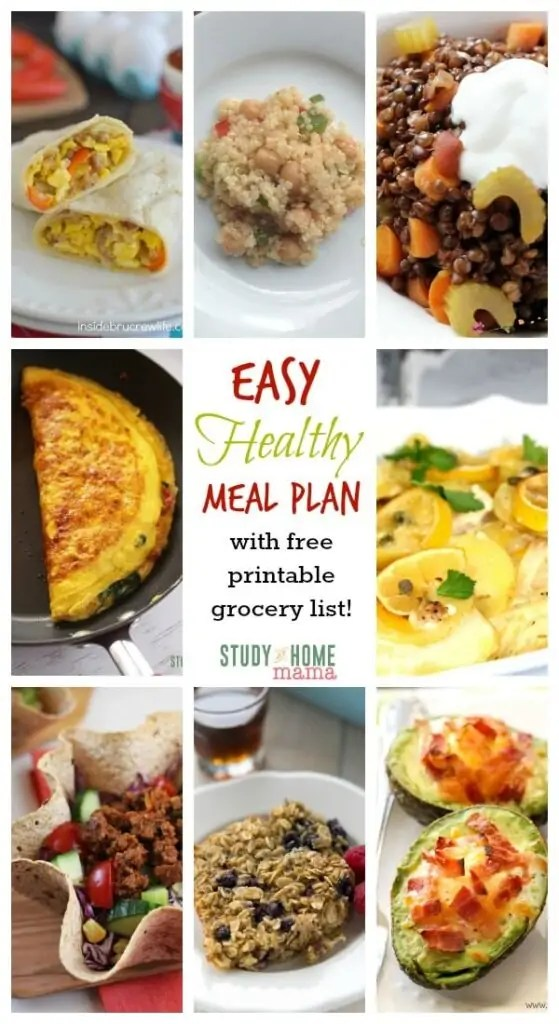 7 Day Healthy Meal Plan for Winter ⋆ Sugar, Spice and Glitter - healthy meal plan