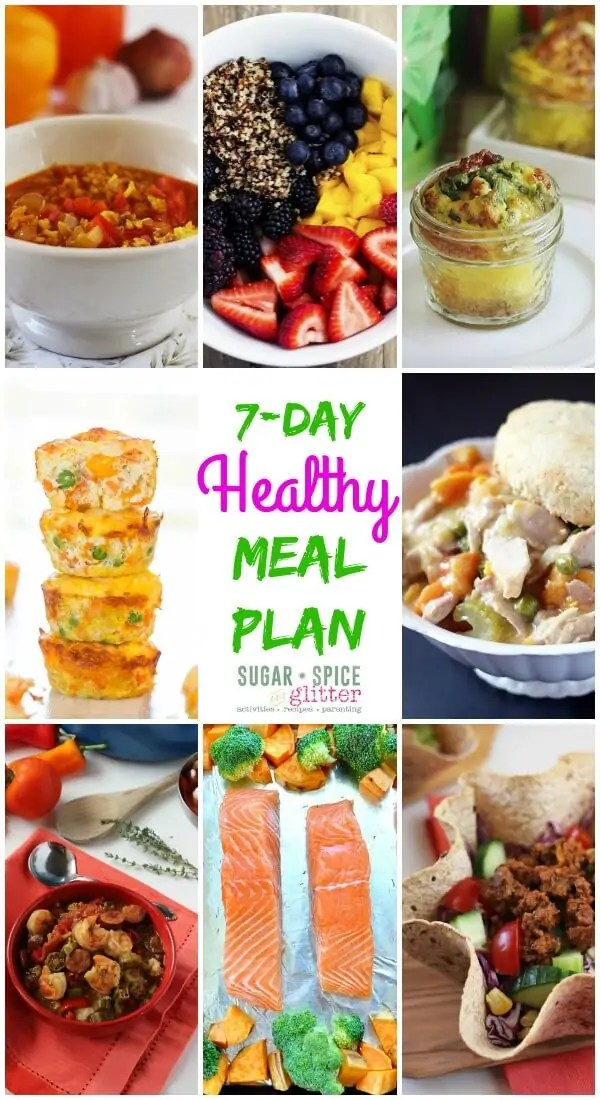 7 Day Healthy Meal Plan 9 ⋆ Sugar, Spice and Glitter
