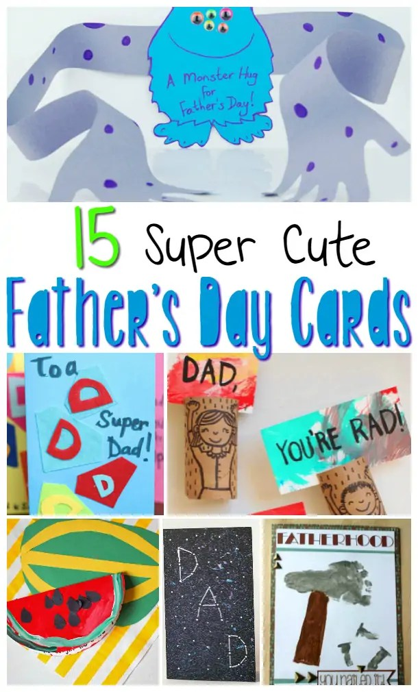 Father\u0027s Day Cards Kids Can Make ⋆ Sugar, Spice and Glitter