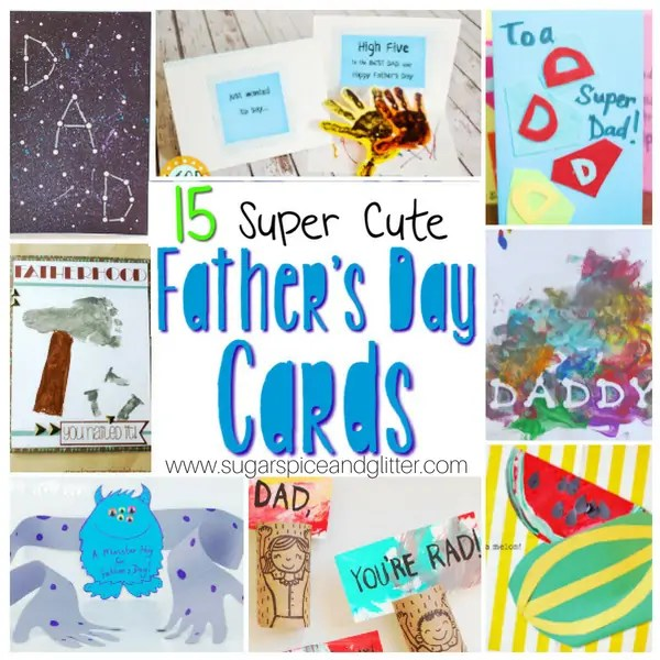 Father\u0027s Day Cards Kids Can Make ⋆ Sugar, Spice and Glitter - father day cards