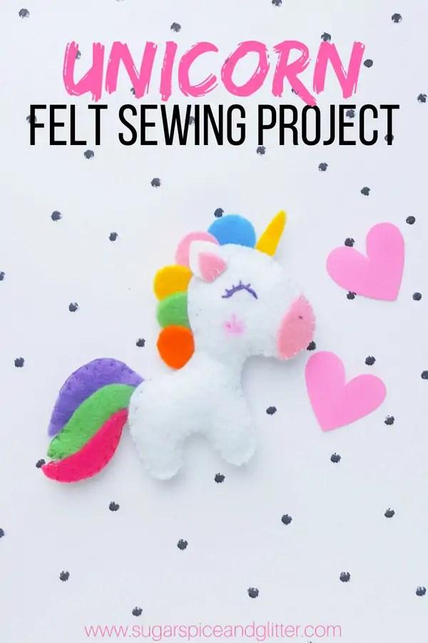 Felt Unicorn Sewing Project ⋆ Sugar, Spice and Glitter
