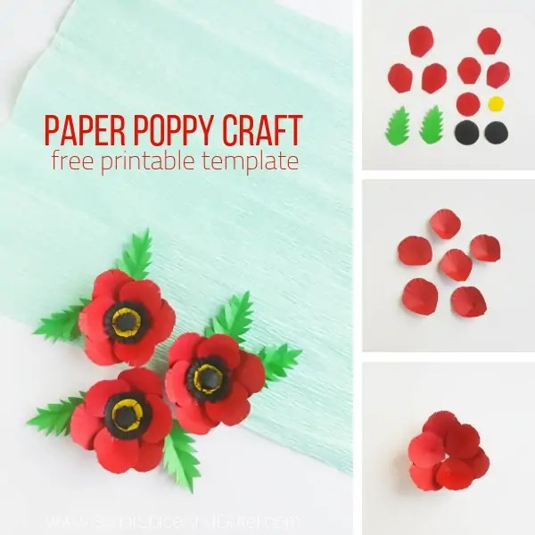 Paper Poppy Craft ⋆ Sugar, Spice and Glitter