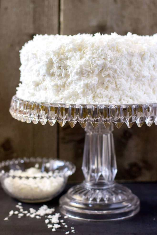 Old Fashioned Coconut Cake - Sugar Spun Run