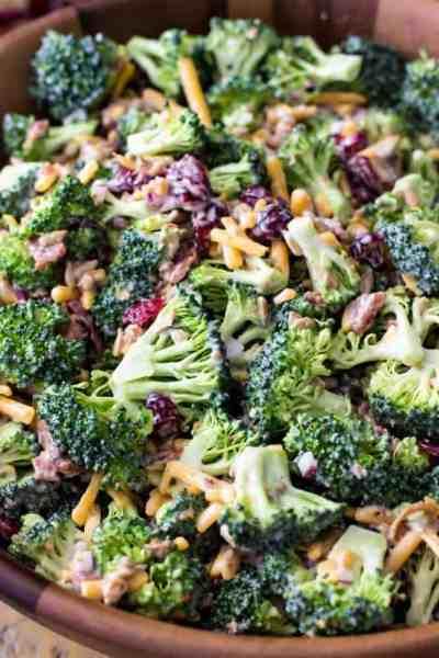 Broccoli Salad - Sugar Spun Run