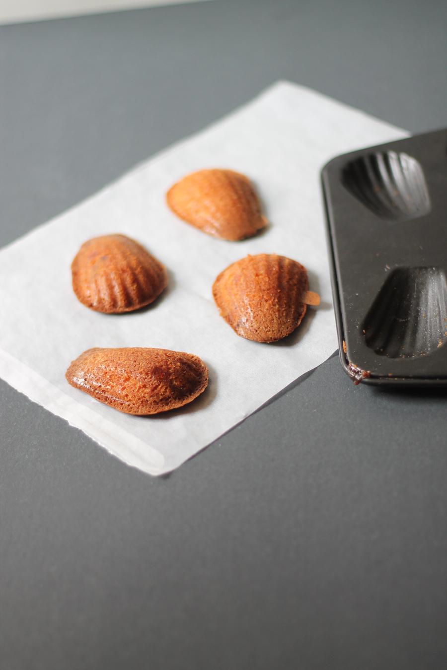 Marmalade madeleines