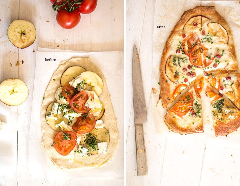 apple and gorgonzola vegetarian pizza recipe