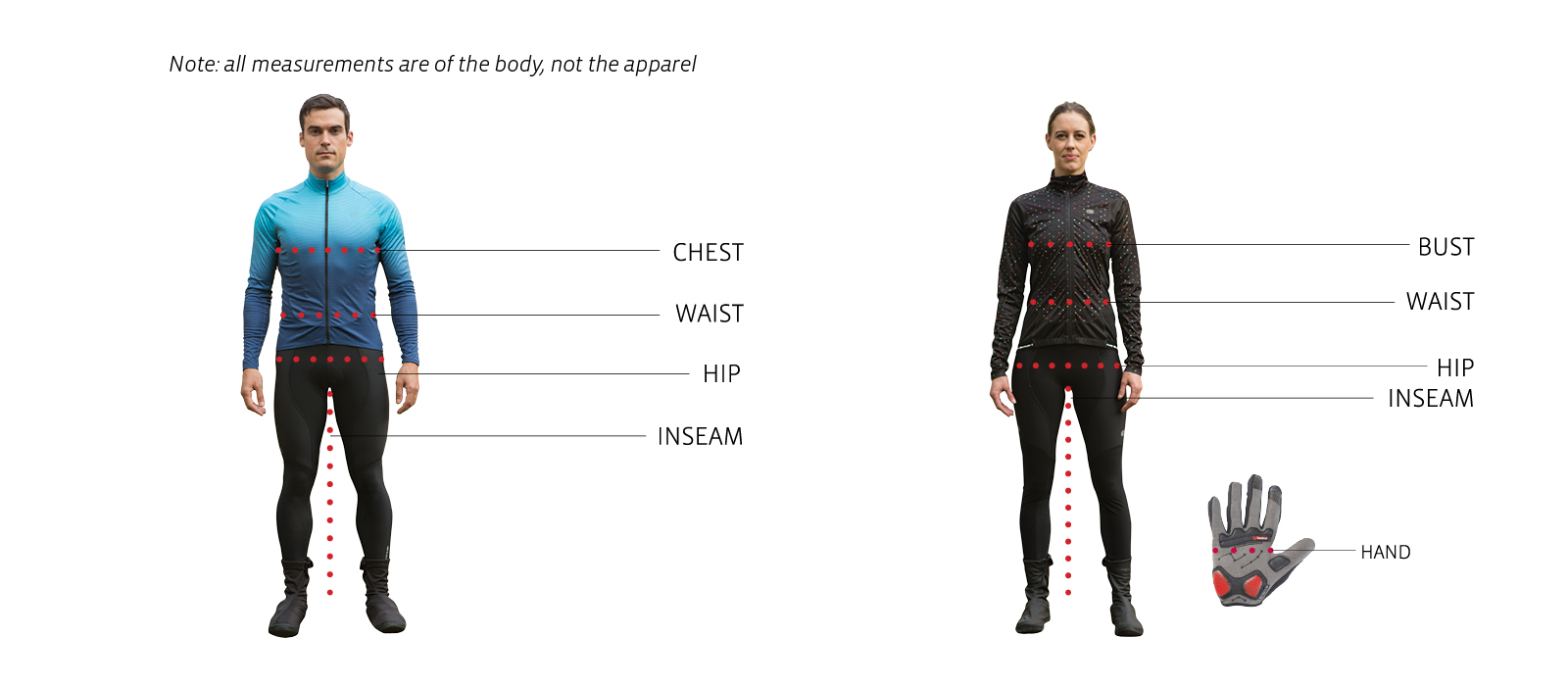 Cycling Clothing Cycling Clothing Size Chart Sugoi Usa