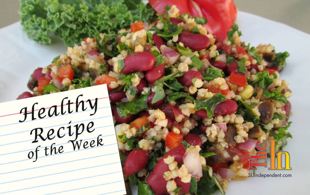 Hoppin John Salad with Kale Recipe vegan