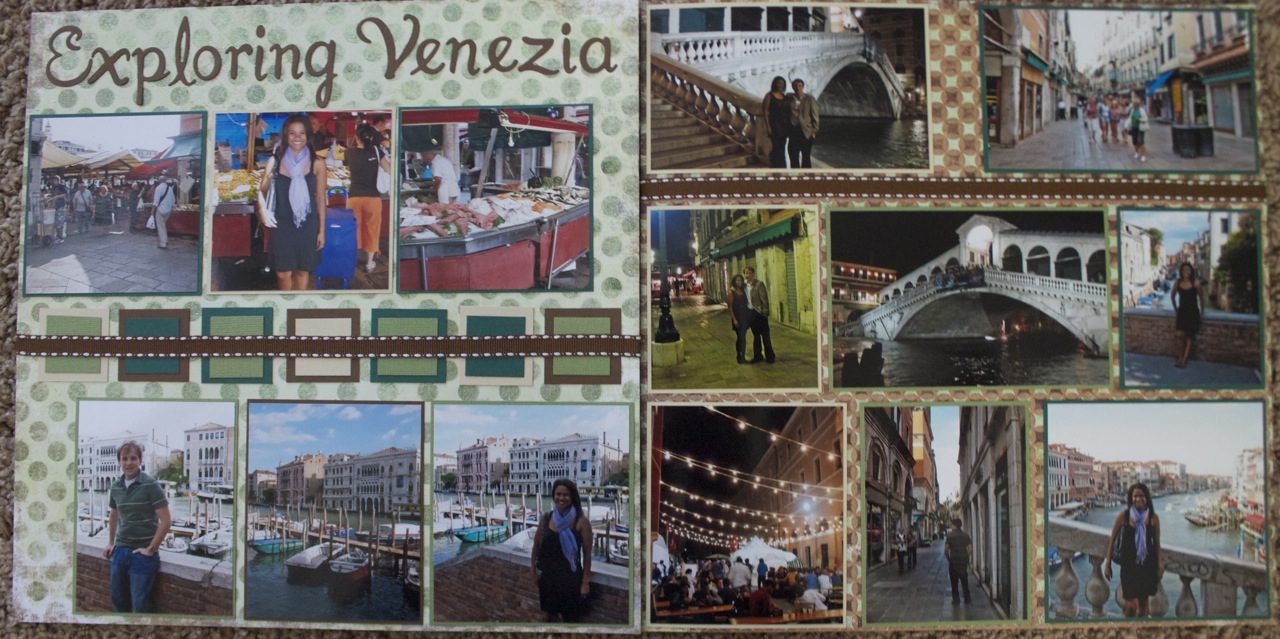 Scrapbook layout exploring venezia venice italy europe scrapbooking travel ideas