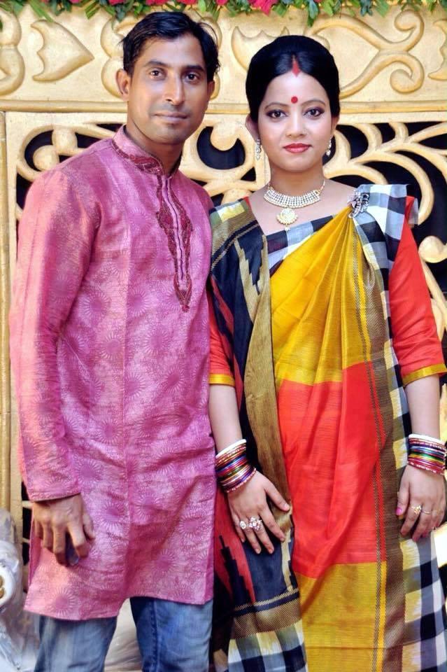 Tapash Baisya Bangladeshi Cricketer with his wife Sumitra