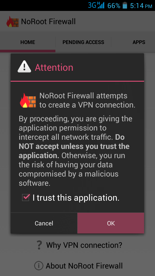 Block & Allow Internet Access Of Android Apps Individually