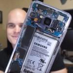 Galaxy S8の背面カバーを完全スケルトンにしたDIY猛者が登場