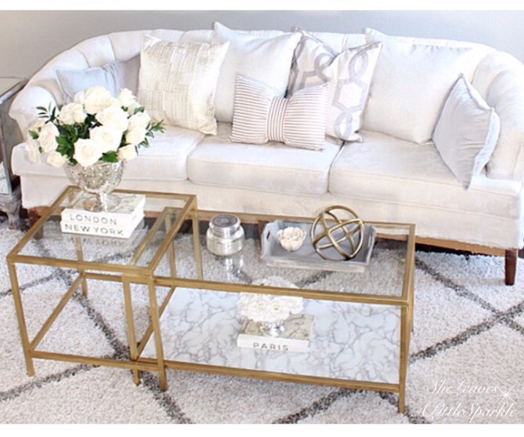 Most Popular Coffee Tables Ikea Hack Vittsjo Nesting Tables Gold Spray Paint Marble Adhesive Contact Paper Diy Tutorial Summer Adams