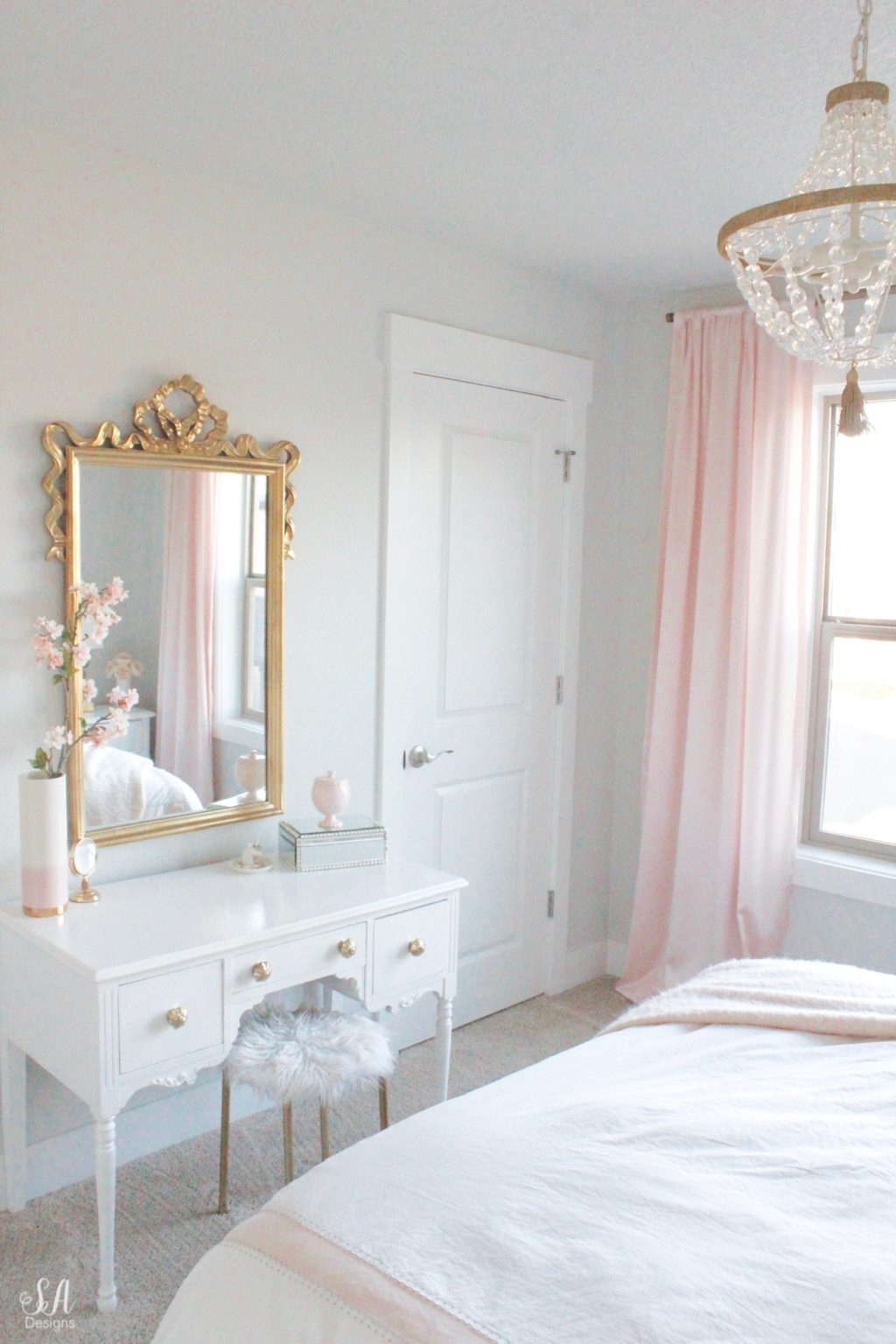 Modern Girls Bedrooms Tween Girl S Bedroom In Blush Gold Grey Summer Adams
